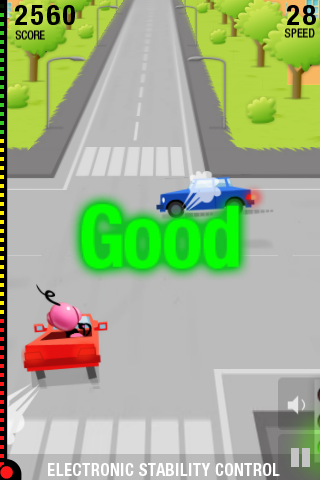 Screenshot eSafety Driving Challenge